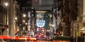 Christmas evening in london landscape view
