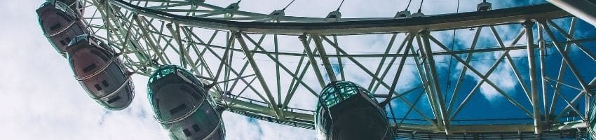 Cantilevered observation Wheel of the London Eye